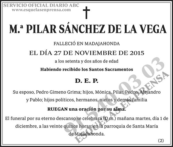 M.ª Pilar Sánchez de la Vega